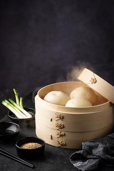 찜통으로 중국식 찐빵 baozi