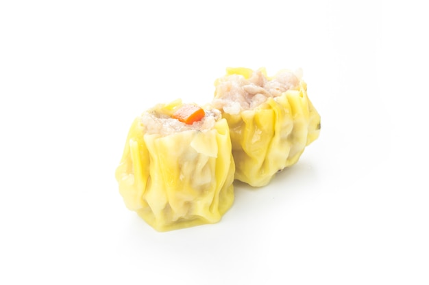 Chinese steamed shrimp dimsum in white