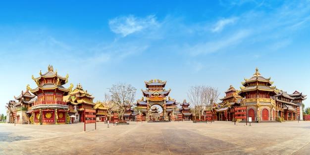 중국 스타일의 고대 건축물, 하이난, 중국.