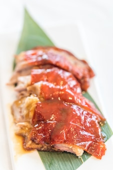 Chinese style bbq grilled duck