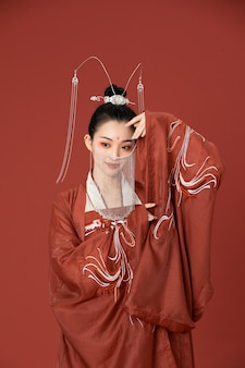 Китайский стиль ханьфу древний стиль красоты танцы