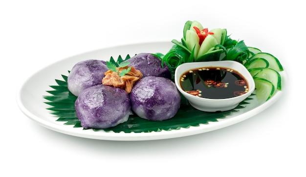 Китайский сладкий картофель фиолетовые пельмени