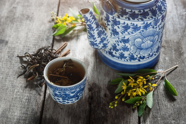 Chinese tea pot and cup.