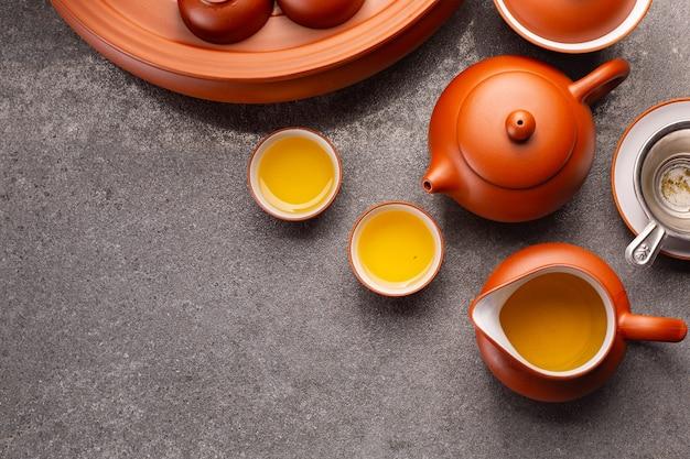 Китайский чай традиционный травяной напиток фон