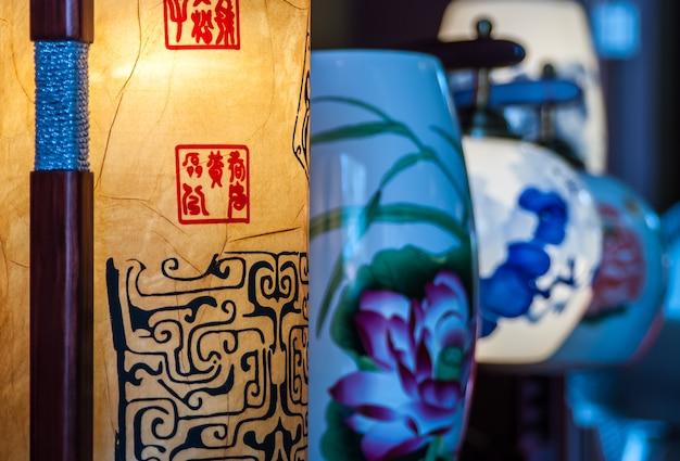 Китайский традиционный фонарь Premium Фотографии