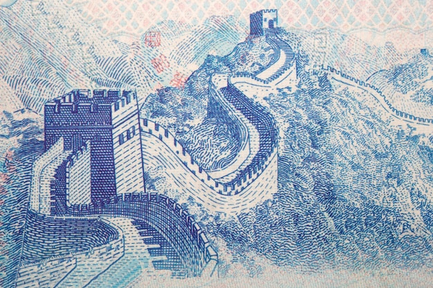 Chinese wall from money