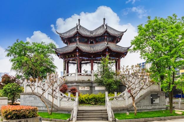 중국 벽 도로 램프 건물