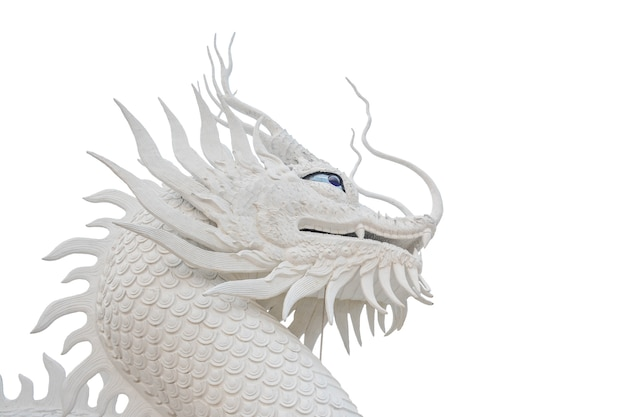Chinese white dragon statue for decoration