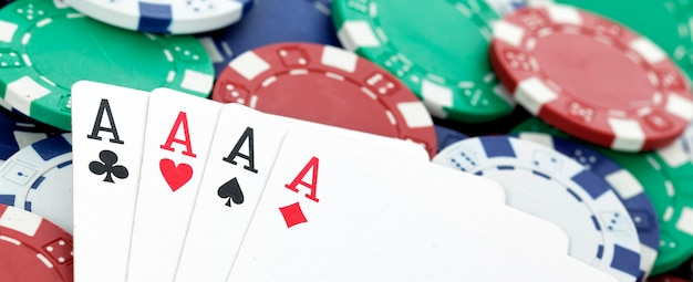 Chips and four aces