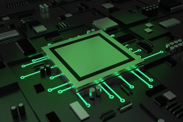 Процессор набора микросхем на материнской плате компьютера