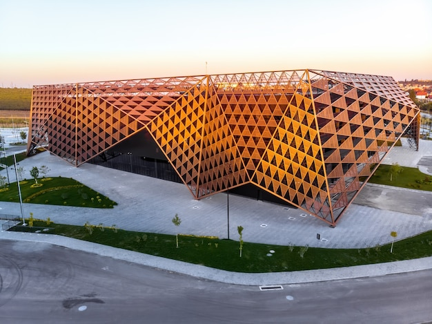 Chisinau arena during sunset in moldova