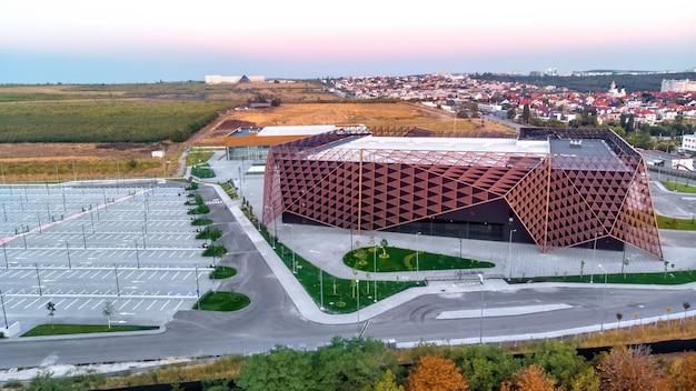 Chisinau arena with soft light in moldova