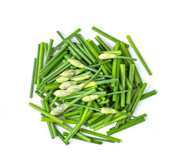 Chives flower slice isolated Premium Photo