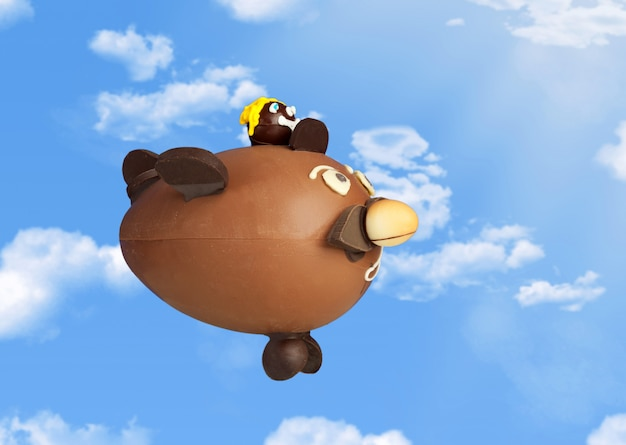Choccolare airplane in the sky