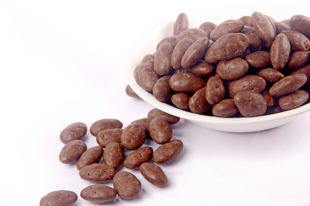 Chocolate almond in bowl