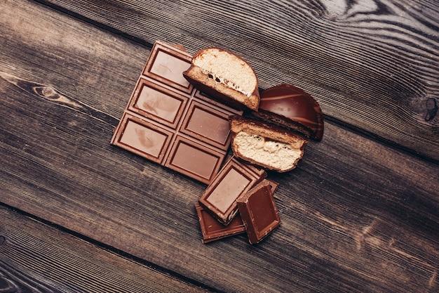 Фон плитки шоколада