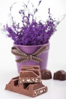 Chocolate bar close-up