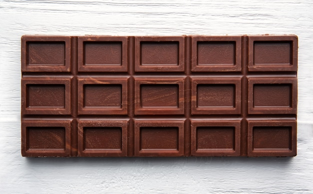 Плитка шоколада, крупным планом