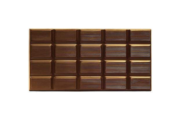 白い背景で隔離のチョコレートバー