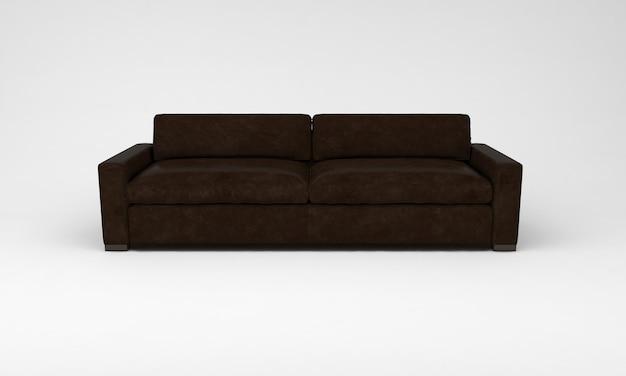 Шоколадно-коричневый диван мебель вид спереди