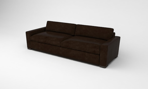 Шоколадно-коричневый диван сбоку посмотреть мебель