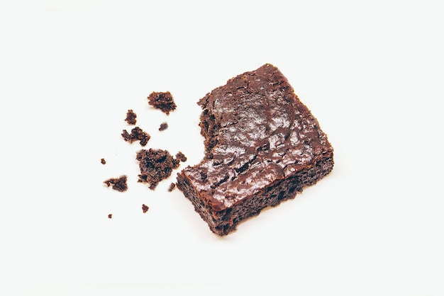 Chocolate brownie. homemade baking. selective focus. food.