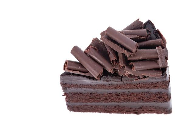Шоколадный торт, изолированные на белом фоне