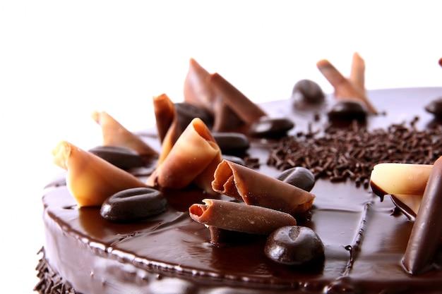 Chocolate cake with chocolate sprinkles
