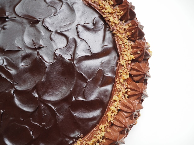 Chocolate cake with fluffy mosse