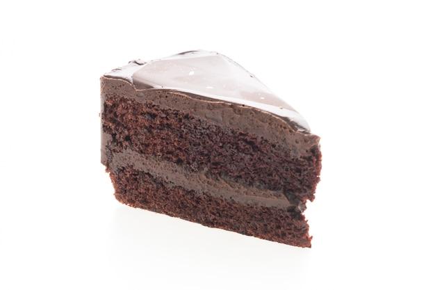 孤立したチョコレートケーキ