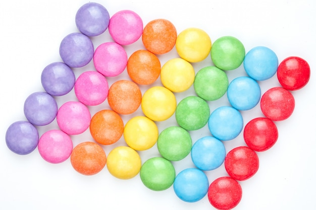 Chocolate candies by color