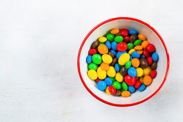 Chocolate candy in the bowl Premium Photo