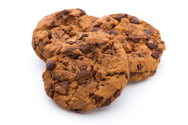 Шоколадное печенье, изолированные на фоне.