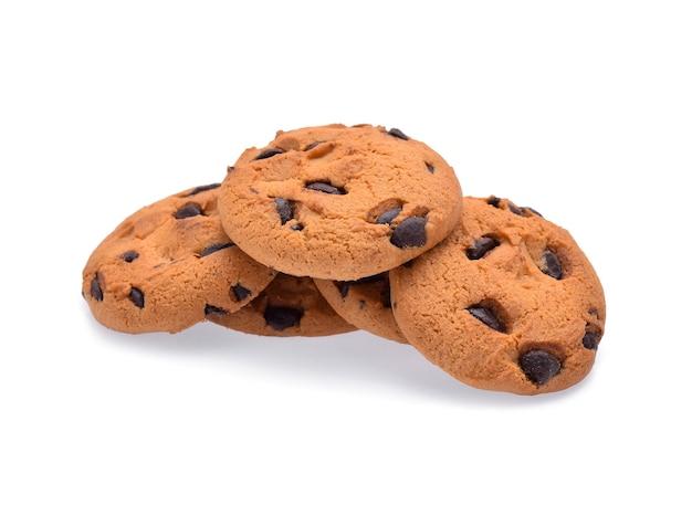 分離されたチョコレートチップクッキー