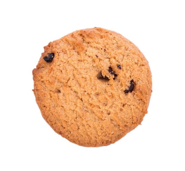 白い表面にチョコレートチップクッキー