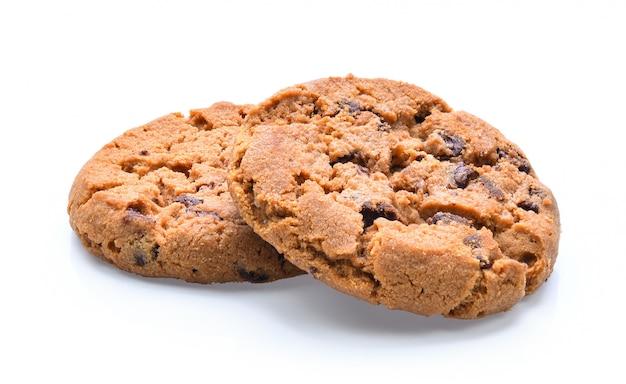 Шоколадное печенье на белой поверхности