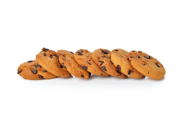 白のチョコレートチップクッキー Premium写真