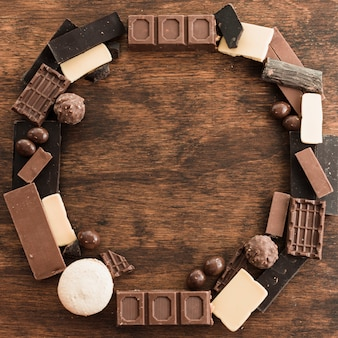 Chocolate composition with copyspace