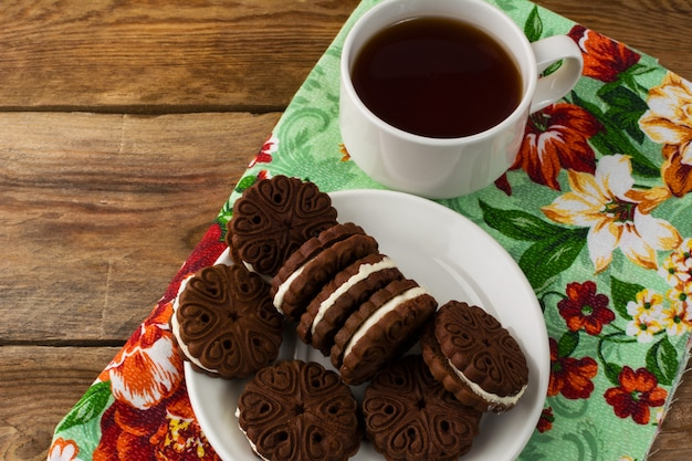 Chocolate cookies sandwiches