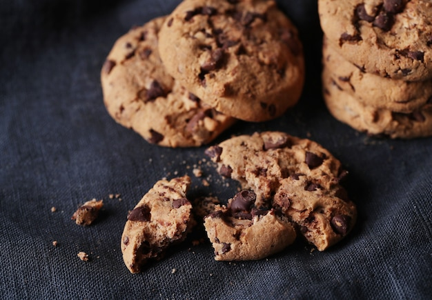 Chocolate cookies with chocolate chipss