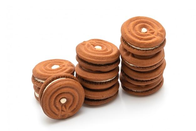 クリームとチョコレートクッキー