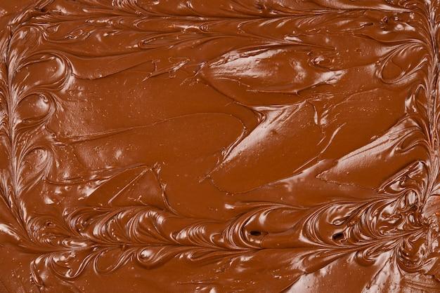 Фон шоколадный крем. место для текста или дизайна.