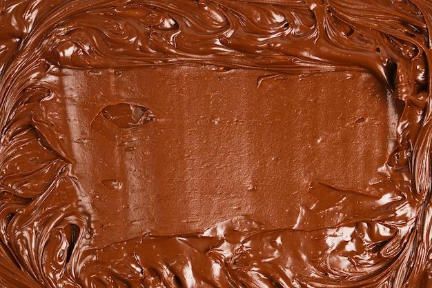 Шоколадный крем фон. место для текста или дизайна.