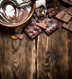 슬라이스 초콜릿 크림