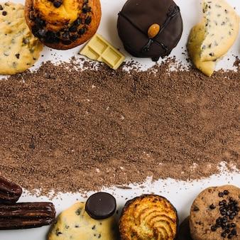 Chocolate drops betweencookies