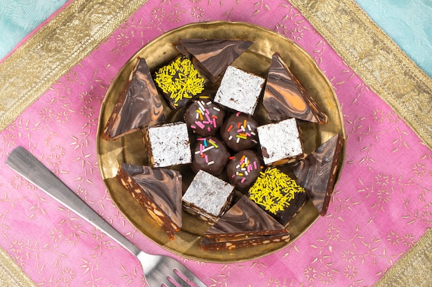 Chocolate dry fruits sweet