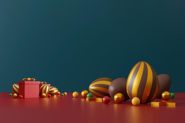 그린 초콜릿 부활절 달걀