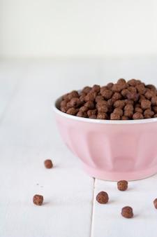 Chocolate flakes breakfast