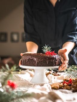 チョコレートジンジャーブレッドケーキ