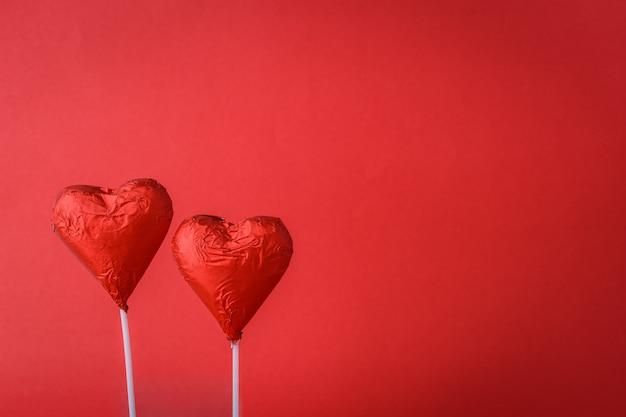 Шоколадные сердца в форме